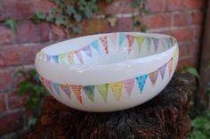 Endless summer bunting serving dish £35.00