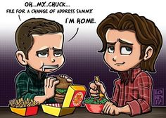 """""""I'm Home""""🍔🤤🍔  @jensenackles @jaredpadalecki @stephenamell @cw_supernatural @cw_arrow Just another scene I would love to see happen in an Arrow/Supernatural crossover!!!  #lordmesaart #clipstudiopaintex #stephenamell #jensenackles #arrow #supernatural..."""