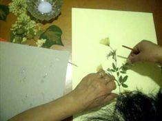 Como fabricar un cuadro de flores secas - YouTube
