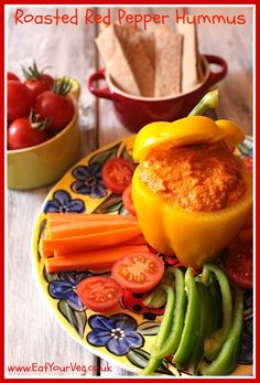 Roasted Red Pepper Houmous - Eat Your Veg