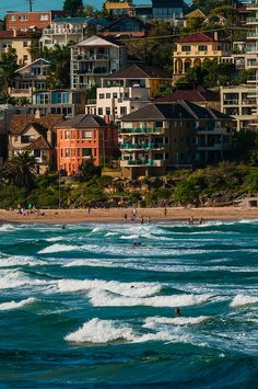 Hauses at Manly Beach, Sydney, New South Wales in Australia