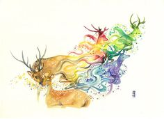 Dreamlike Colorful Watercolor Illustrations  Artist Luqman Reza is behind colorful watercolor illustrations staging animals. His creations replunge us in the tales of our childhood and bring us in our imaginary world. A colorful tribute to the nature and that it can bring to us all with a light paintbrush stroke.            #xemtvhay