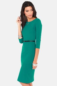 LULUS Exclusive Midi as a Picture Green Midi Dress at LuLus.com!