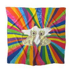 double dog scarf by burieddiamond - Foulard Color