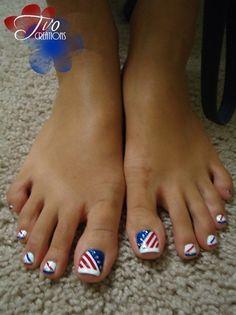 Patriotic pedicure