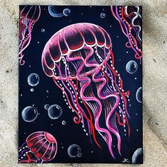Jellyfish painting on canvas with metallic paint. # on # canvas # metallic paint # with # jellyfish painting Jellyfish painting on canvas with metallic paint. # on # canvas # metallic paint # with # jellyfish painting Fish Artwork, Art Painting, Aesthetic Painting, Painting Inspiration, Mini Canvas Art, Art Painting Acrylic, Painting Art Projects, Cute Canvas Paintings, Acrylic Painting Canvas