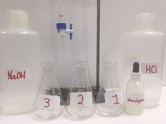 This lab serves as the first day to introduce a titration using simple NV = NV calculations. Included: Worksheet to teach relationship between Molarity and Normality.Student Lab Sheet, Student Lab Quiz, Student Lab Make-up Sheet with Data for Absent Students, Answer Keys, Teacher Notes and Follow-up Problem Based ActivityPDF and WORD files included.