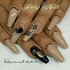 Sexy Nails, Hot Nails, Fancy Nails, Hair And Nails, Pretty Nail Art, Beautiful Nail Art, Gorgeous Nails, Copper Nails, Striped Nails