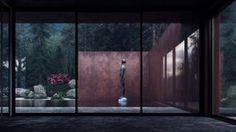 "Sergey Makhno's Minimal ""Rose"" House Reflects Its Surroundings"