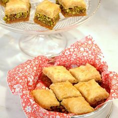 Baklava Recipe Desserts with pistachios, granulated sugar, rose water, ground cinnamon, lemon juice, phyllo dough, clarified butter