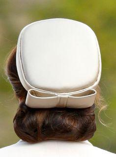The Duchess of Cambridge - Cream satin pill box - Royal Hats