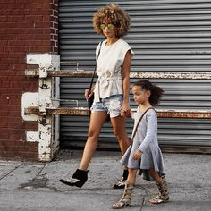Afternoon strolling. Tap for outfit details .#kidsfashion