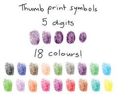 Free finger and thumbprint symbols for Adobe Illustrator