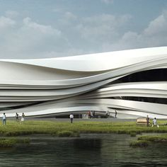 Rendering of proposed Yinchuan Art Museum by WAA