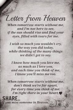 ~ Letter from Heaven Dad Quotes, Prayer Quotes, Wisdom Quotes, Words Quotes, Life Quotes, Sayings, Text Quotes, Miss You Grandpa Quotes, Miss My Dad