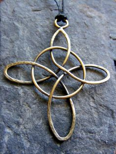 Brass Blackened Witches Knot by MoonLitCreations