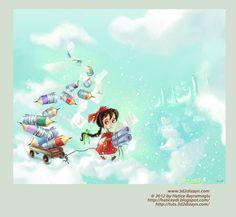 story book illustration by ~eydii on deviantART