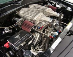 The motherlode, twin supercharged engine!