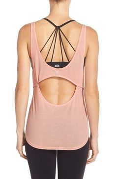 Free shipping and returns on Alo 'Sculpt' Cutout Ribbed Tank at Nordstrom.com. A lightweight, ribbed workout tank features a flattering scooped neckline and cool cutout back that shows off your cute sports bra layered underneath.
