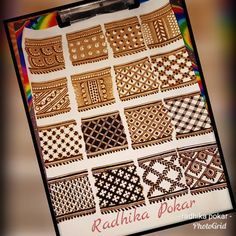 Different types of filling & checks designs. Khafif Mehndi Design, Rose Mehndi Designs, Basic Mehndi Designs, Mehndi Designs 2018, Henna Art Designs, Mehndi Design Pictures, Mehndi Designs For Beginners, Wedding Mehndi Designs, Dulhan Mehndi Designs