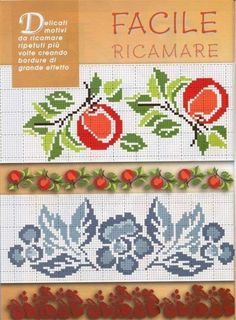 Cross Stitch Designs, Cross Stitch Patterns, Diy And Crafts, Projects To Try, Embroidery, Cross Stitch Borders, Cross Stitch Flowers, Cute Cross Stitch, Cross Stitch Rose