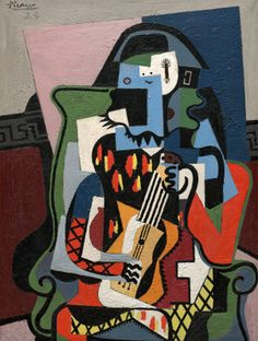 Pablo Picasso (1881-1973), 1924, Harlequin Musician, oil on canvas.