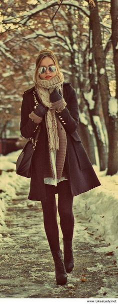 Classic winter look.