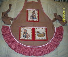Grandmas Gingerbread Apron by whimseycottage on Etsy, $25.00