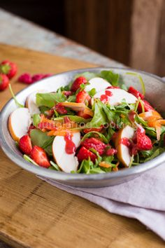 Strawberry Salad with Raspberry Dressing