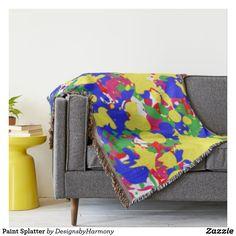 Paint Splatter Throw Blanket
