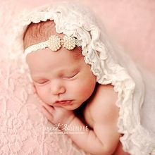 Infant Kids Soft Headband Baby Crown children Baby pearl jewelry hair band Girls Floral Lace Crown(China (Mainland))