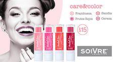 ¿Conoces nuestros bálsamos labiales? Cuida y protege tus labios con care&color    #cosméticanatural #labios #soivrecosmetics