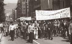 La actividad comunista dio lugar a las huelgas, como la de 1957 en la mina La Camocha en Gijón y las de la década de 1960 (1962, 1963 y 1964). Pero la ilegalización de Comisiones Obreras por el Tribunal Supremo en 1967 y el decaimiento de la minería provocó un freno a su actividad, no recuperándose hasta los años previos a la caída del régimen franquista y la formación de la monarquía parlamentaria de 1978, en la que la provincia recuperó el nombre y el título del Principado de Asturias.