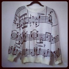sheet music sweater- I really would love to own this one!!