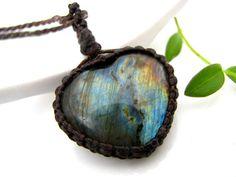 Labradorite Crystal necklace, Labradorite Necklace, Heart necklace, crystal pendant, Crystal necklace, scorpio birthstone