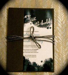 Watercolor Wedding Invitation // DIY Printable by blacklabstudio, $45.00
