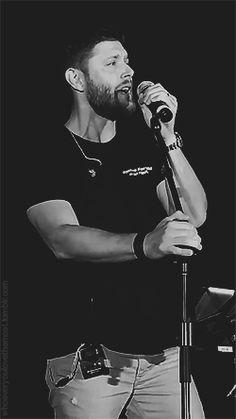Jensen Ackles singing. Be still my beating heart!!
