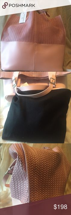 NWT Edmond Louis pink leather tote Beautiful NWT leather tote with insert pouch edmond louis  Bags Totes