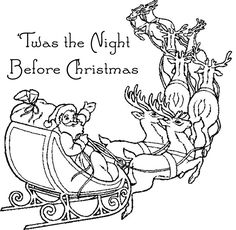 The Night Before Christmas Coloring pages | And laying his finger ...