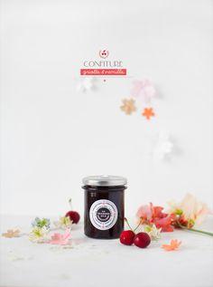 Merci Griottes.fr pour la découverte (bon faut encore que je goûte mais ça donne envie !!) --- Confiture Cerise Griotte et vanille - La chambre aux confitures