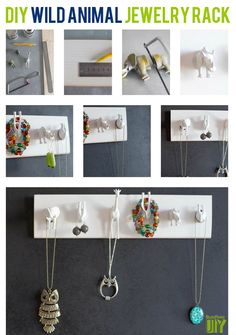 Wild Animal Hanger / 25 Clever DIY Ways To Keep Your Jewelry Organized (via BuzzFeed)