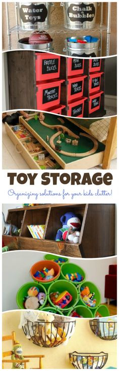 Toy Storage: Organizing Solutions for your kids clutter! Love the outdoor toy storage!
