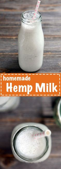 homemade help milk is the easiest dairy-free milk I've ever made! You'll never buy it from the store again. Milk Recipes, Raw Food Recipes, Banting Recipes, Hemp Seed Recipes, Hemp Recipe, Homemade Smoothies, Detox Smoothies, Vegan Smoothies, Hemp Milk