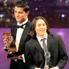 Lionel Messi and christiano ronaldo. HAHAHA