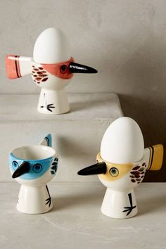 Early Bird Egg Cup by Hannah Turner #anthrofave #anthropologie