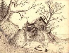 pen and ink building art drawing | Describe this Piece: I did this piece in 1984 strictly from ...