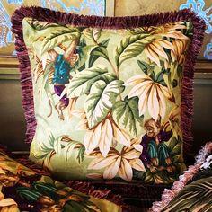 Horses Cushion Cover Oriental Pillow Throw Case Printed Cotton