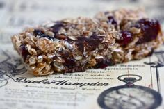 Yogi Trail Mix Bars - makes 16    1 cup honey  2 tsp vanilla extract  1/4th tsp salt  2 T granulated sugar  1/4 cup peanut butter  1 1/2 cups rolled oats  1/2 cup oat bran  1/2 cup dark chocolate chips  1/2 cup unsweetened shredded coconut  1/2 cup sunflower seeds  3/4 cup dried cherries, cranberries or berry blend (I used a blend of dried cherries, raspberries and currants)