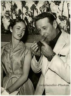 Georges Simenon e Betta St. John in Cannes no ano de 1957