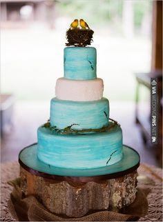 Robin's Egg Blue Cake | CHECK OUT MORE IDEAS AT WEDDINGPINS.NET | #weddingcakes